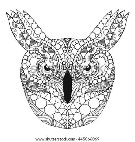 Maned owl stock photos royalty free images vectors for Thin line tattoo artists near me