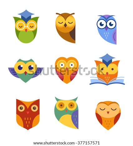 Owl icons collection