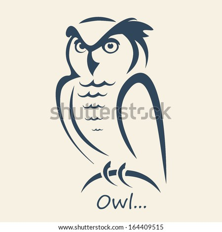 Stock Images similar to ID 183890009 - owl head vector ...