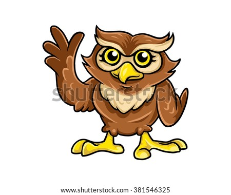 owl mascot cartoon