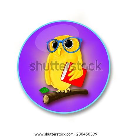 Owl Teacher - stock vector