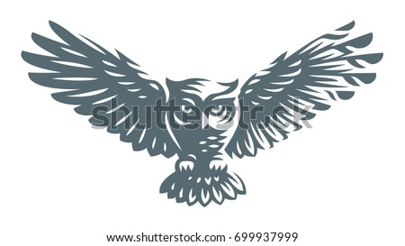 Owl - vector illustration. Icon design on white background.