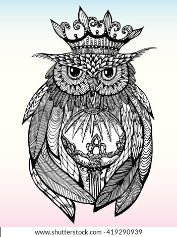 Owl Tattoo Stock Images Royalty Free Images Amp Vectors