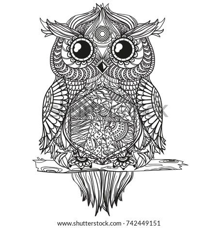 aztec owl coloring pages - photo#17