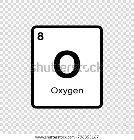 Oxygen chemical element sign atomic number stock vector 796355167 oxygen chemical element sign with atomic number chemical element of periodic table urtaz Images