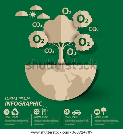 Oxygen. Ecology concept. save world vector illustration. - stock vector