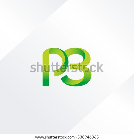 p 3 letter and number joint logo icon vector