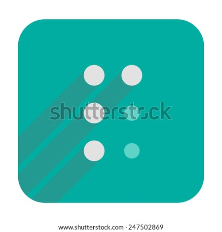 P letter in Braille - stock vector