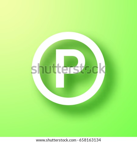 P Sound Recording Copyright Symbol Isolated Stock Vector 658163134