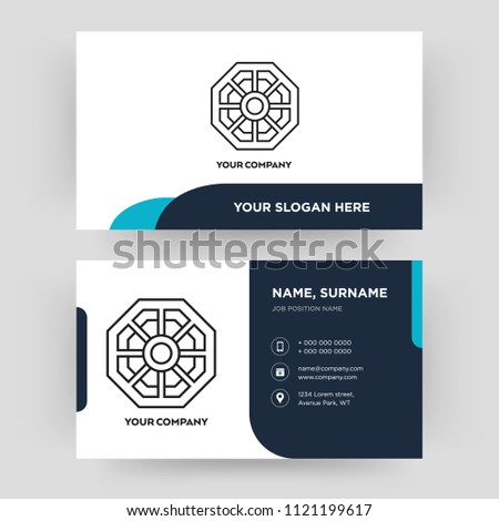 Pa kua mirror business card design stock vector royalty free pa kua mirror business card design template visiting for your company identity card colourmoves