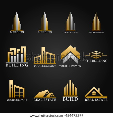 Pack Logos and Symbols Real Estate Vector Design
