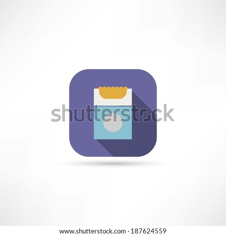 pack of cigarettes icon - stock vector