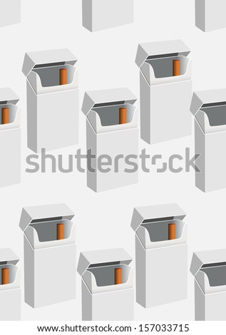pack of cigarettes seamless - stock vector