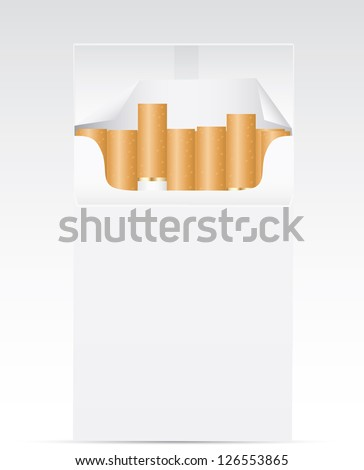 Pack of cigarettes. Vector - stock vector