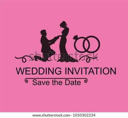 Pack wedding invitation stock vector 1050302234 shutterstock pack of wedding invitation stopboris Images