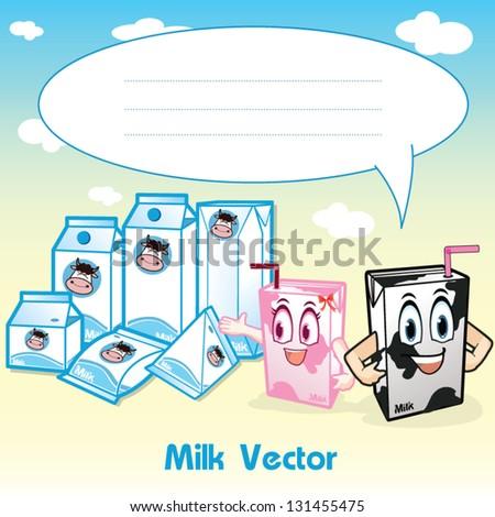 Package Milk Box - stock vector