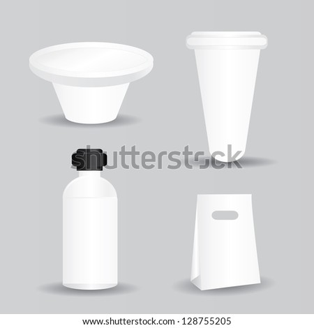 Package,white,blank for text,vector - stock vector