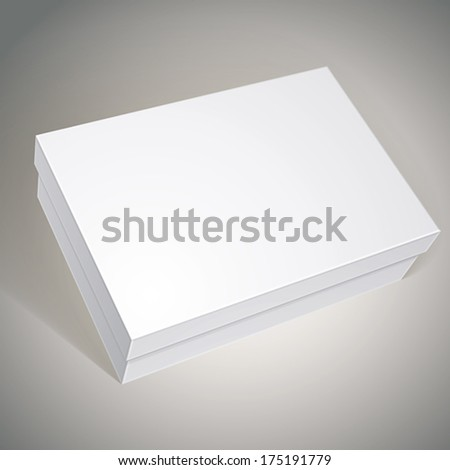 Package white box design, template for your package design, put your image over the box in multiply mode, vector illustration eps 8. - stock vector