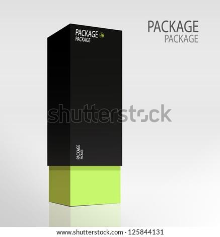 Package white box design 3, vector illustration - stock vector