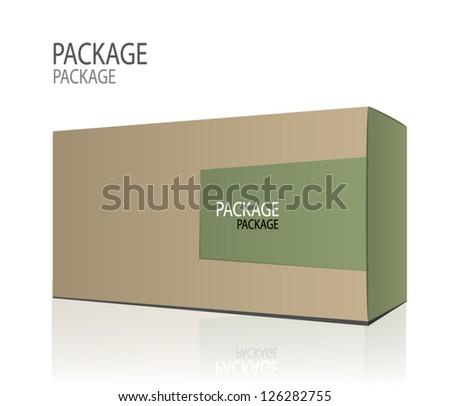 Package white box design 2, vector illustration - stock vector