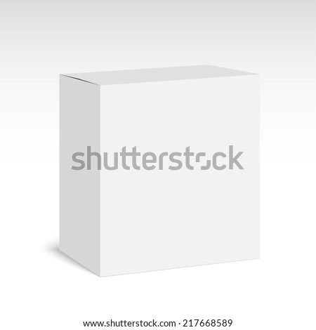 Package white box on a white background. vector - stock vector