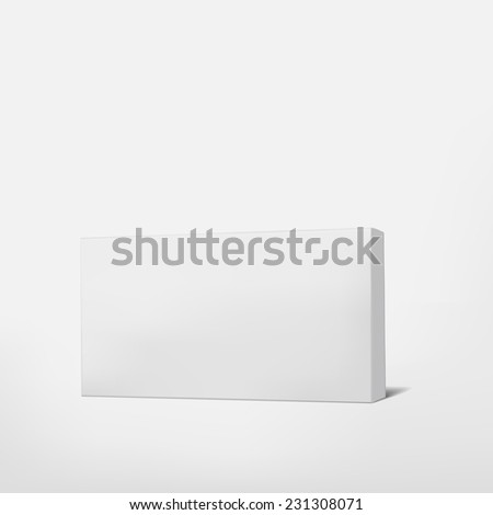 package white cardboard box isolated on white background  - stock vector