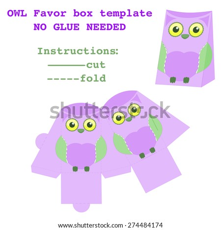 Packaging Box Design Favor Box Template Stock Vector 274484174 ...