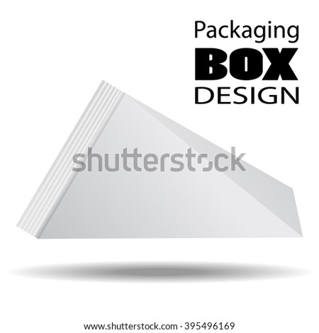 Packaging Box Design. Pack shot carton package of juice, milk or liquids. Vector Illustration EPS 10