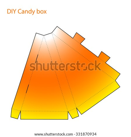 packaging diy craft cut and folded paper candy corn halloween box template triangular form