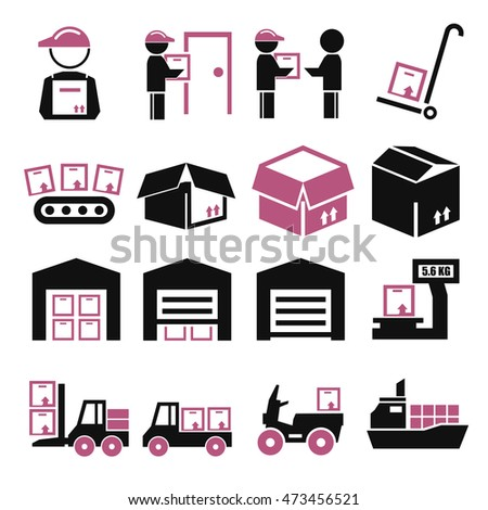packaging icon set