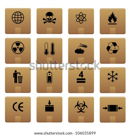 Packaging Icons Professional vector set for your website, application, or presentation. The graphics can easily be edited colored individually and be scaled to any size - stock vector