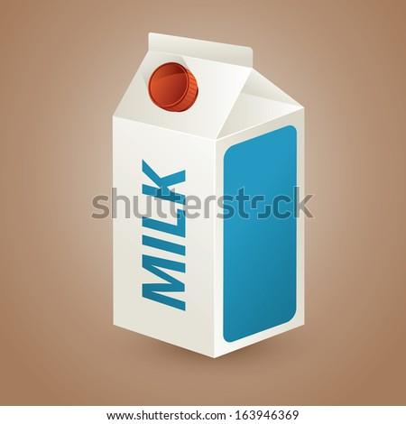 packaging of milk - stock vector