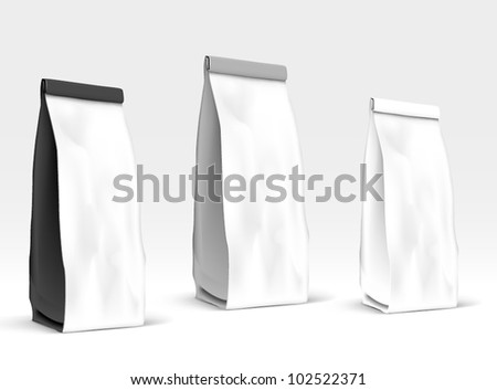 Packaging set - stock vector