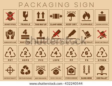 Packaging Signs Packaging Symbols Packaging Symbol Stock Vector Hd