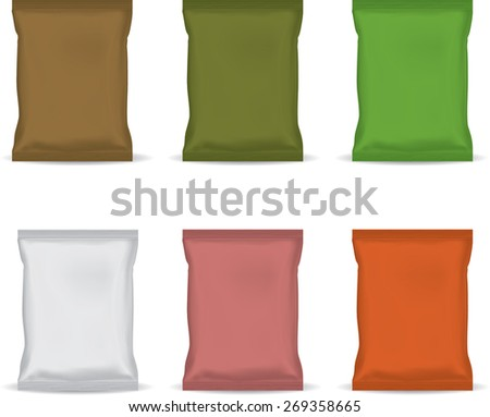 Packaging snack - stock vector