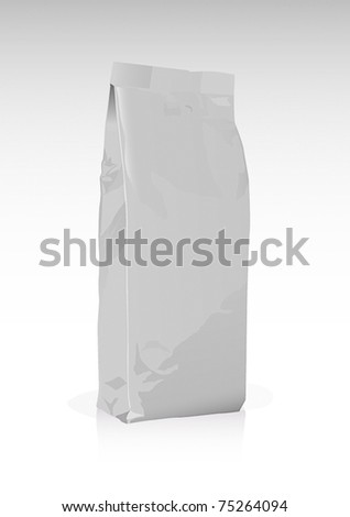 Packet template - stock vector
