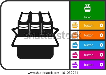 Packing books - stock vector