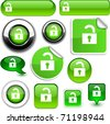 Padlock vector glossy icons. - stock vector