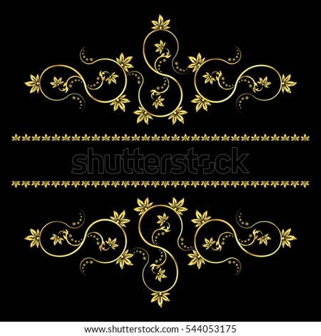 Page decoration elements or monograms. Can be used for designing books, cards, menus, advertisments, tattoo etc. Vector illustration.