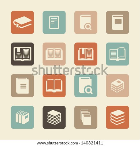 Page icons - stock vector
