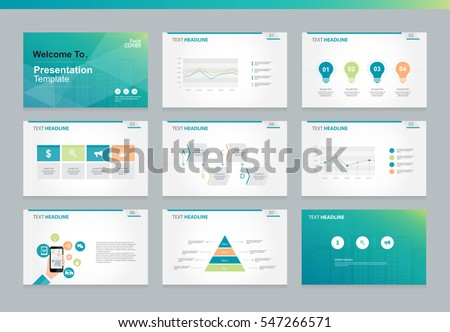 business presentation template setpowerpoint template design stock, Powerpoint templates