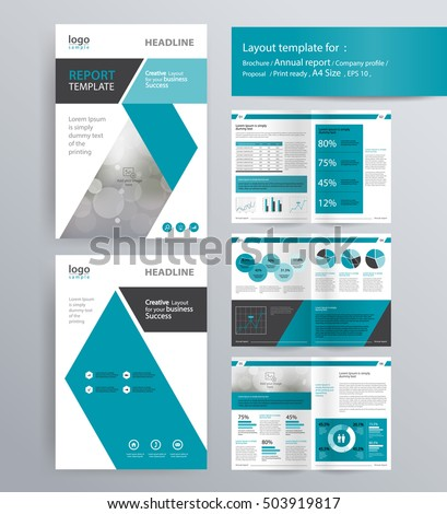Page Layout Company Profile Annual Report Stock Vector - Company profile brochure template