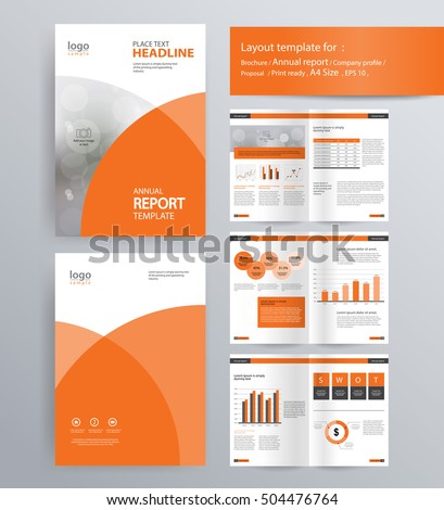 Page Layout Company Profile Annual Report Stock Vector 504476764