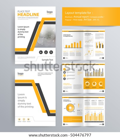 Page Layout Company Profile Annual Report Stock Vector HD (Royalty ...