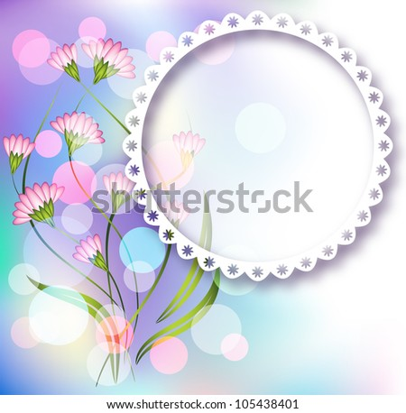 Page layout photo album with floral ornament - stock vector