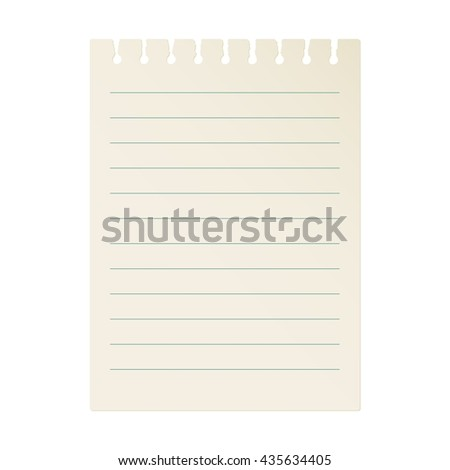 Page of notebook. Vintage. Vector. - stock vector