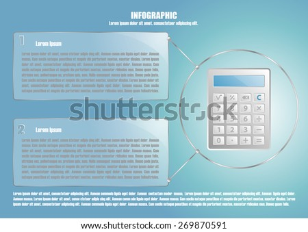 Page 6 of 8 with abstract calculator  for info graphic, presentation, books, documents, web design etc - stock vector