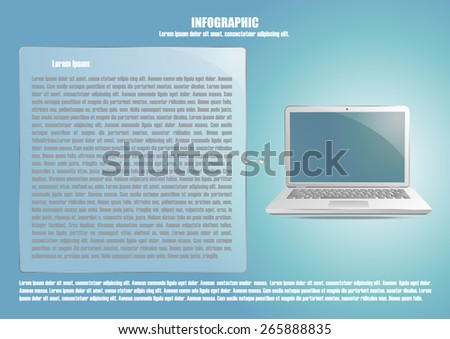 Page 3 of 4 with abstract laptop  for info graphic, presentation, books, documents, web design etc - stock vector