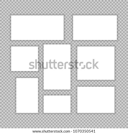 Page Template Magazine Layout Newspaper Cover Stock Vector Hd
