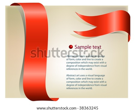 Page with color ribbon. Place for text.